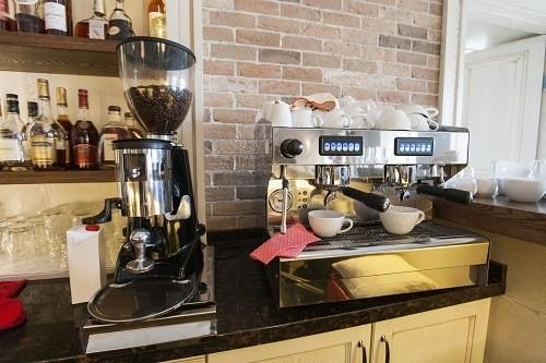 espresso machine with grinder image