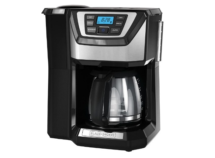 Black Decker 12-Cup Mill And Brew Coffeemaker Black