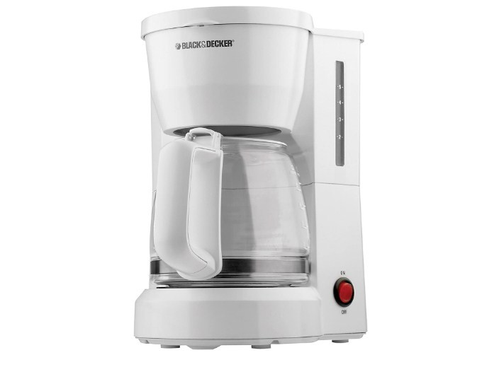 Black Decker Dcm600W 5-Cup Coffeemaker With Glass Carafe White