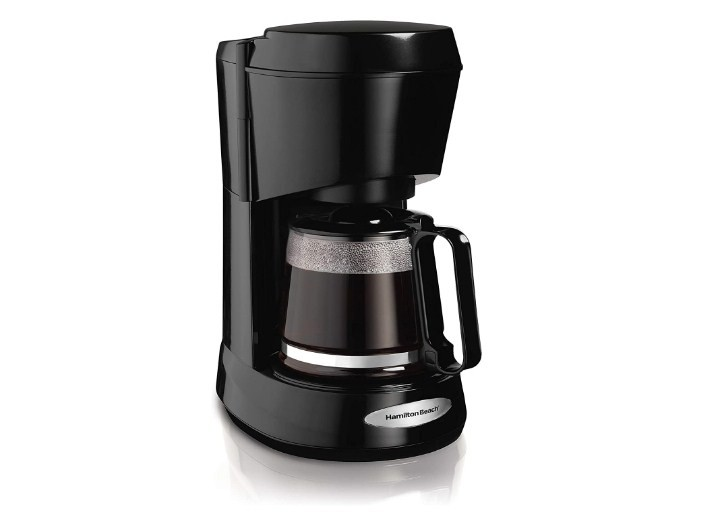 Hamilton Beach 5-Cup Switch Coffee Maker Works with Smart Plugs Black