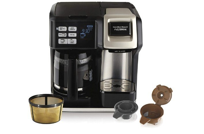 Hamilton Beach FlexBrew Coffee Maker Black Sliver