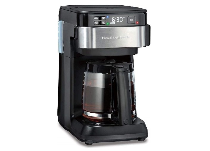 Hamilton Beach Programmable Black and Stainless Steel Alexa Smart Coffee Maker