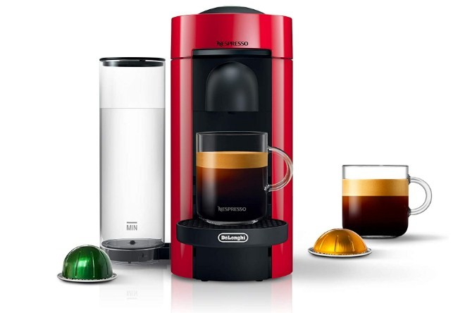 Nespresso VertuoPlus Coffee and Espresso Maker by De'Longhi Red