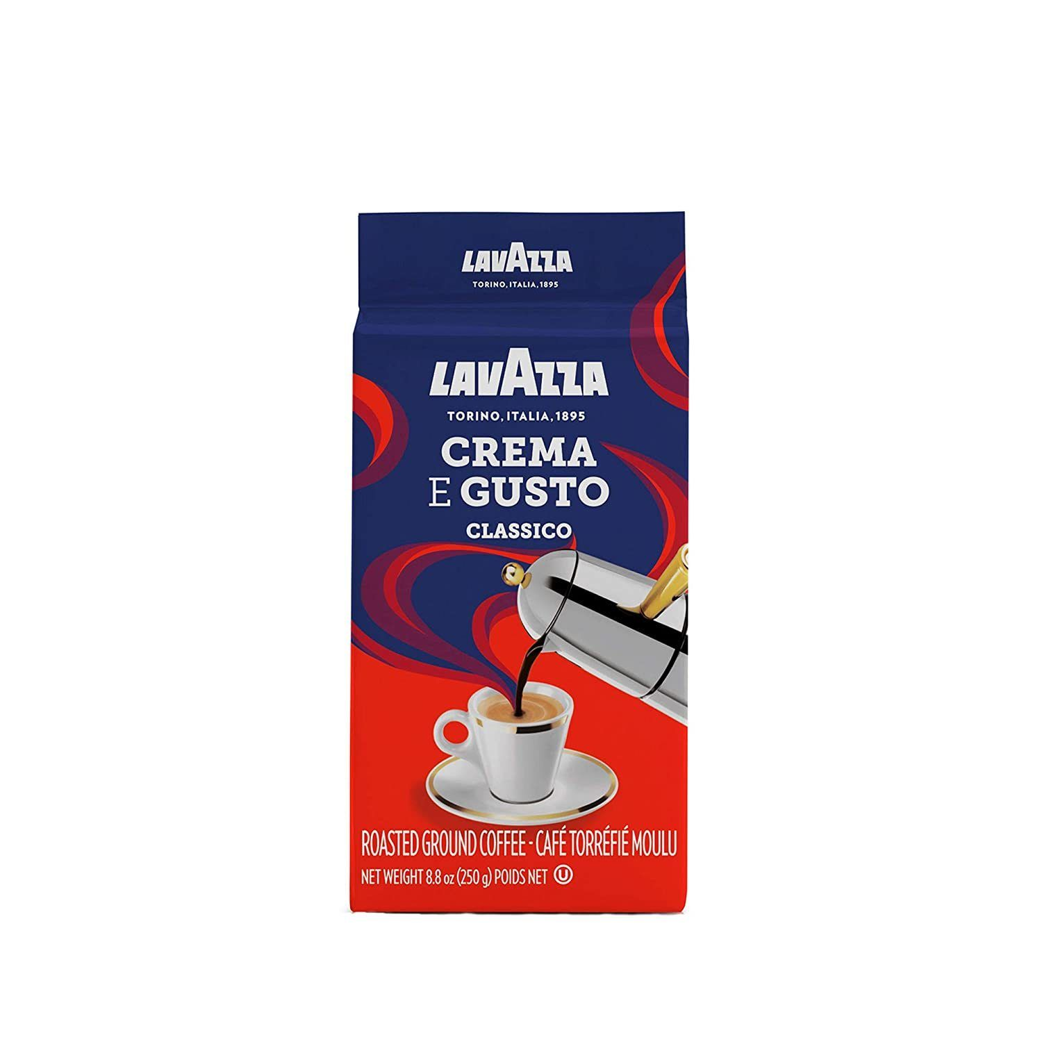 Lavazza Crema e Gusto Ground Coffee Blend