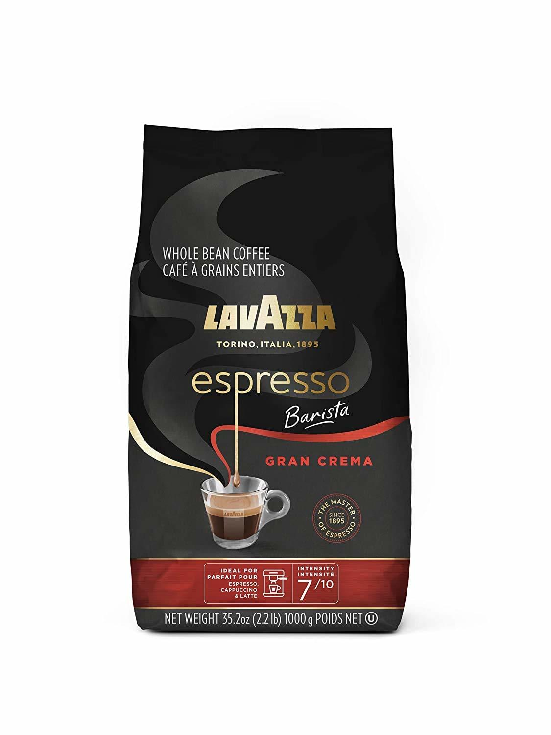 Lavazza Espresso Barista Gran Medium Espresso Roast Crema Whole Bean Coffee Blend,
