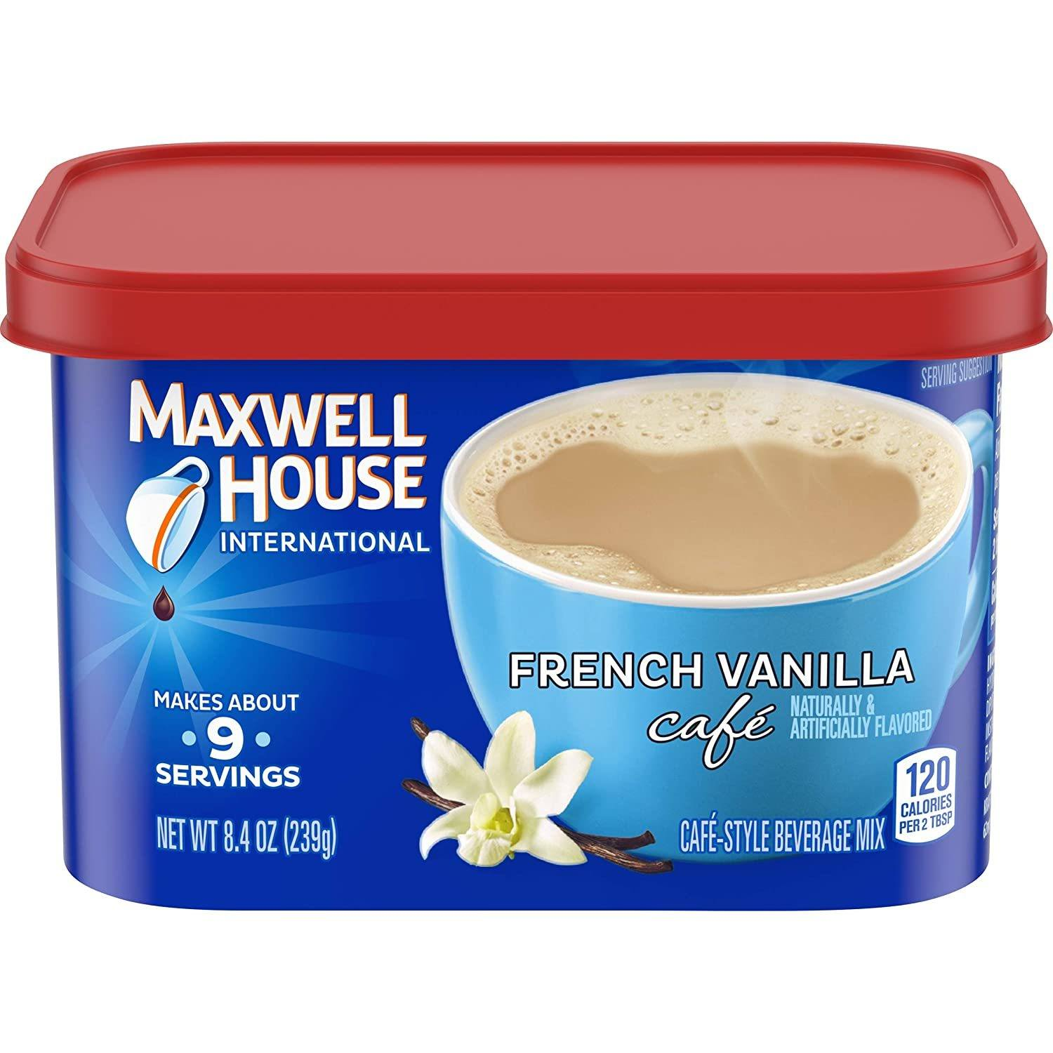 Maxwell House International French Vanilla Café Instant Coffee