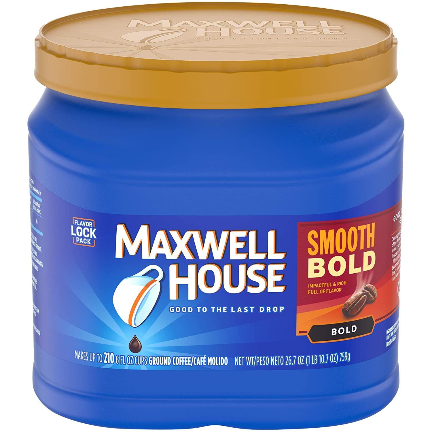 Maxwell House Smooth Bold Roast Ground Coffee