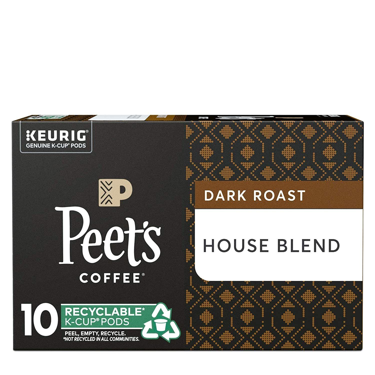Peet's Coffee House Blend Dark Roast Coffee K-Cup